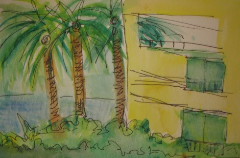 curacao-view-from-the-hotel-terrace-pen-watercolor-4-2009