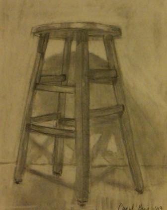negative space stool