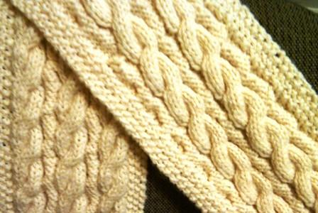 Reverse Cable Knit Scarf