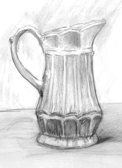Drawing exercise creamer pencil