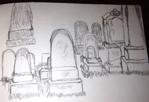 Matts sketch of headstones
