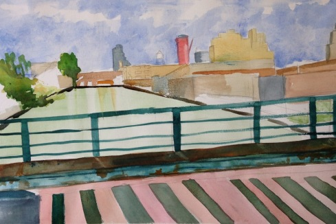 Union Street Bridge over the Gowanus WIP 6-16-13