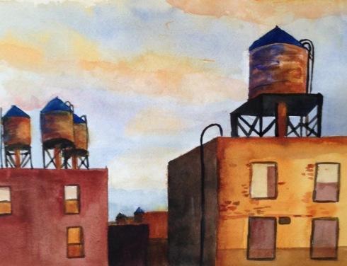 Chelsea water towers 8-18-13