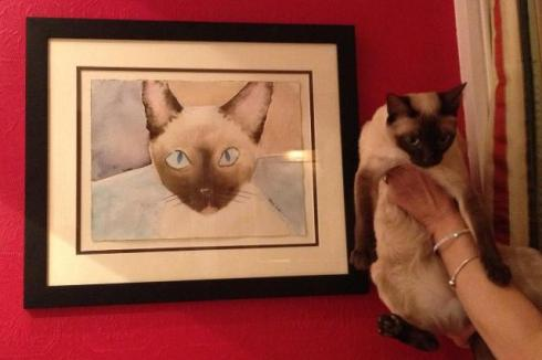 Flossie and her portrait