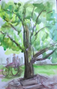 Tree with sketcher