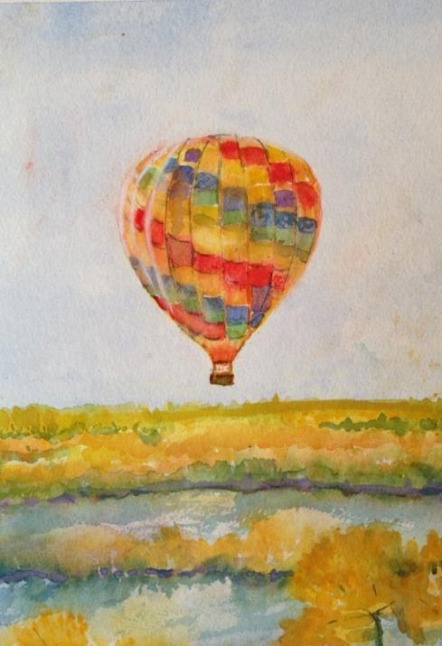 Hot air baloon over ABQ  11-2013