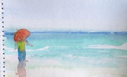 Beach sketch from PMP Karina Robin