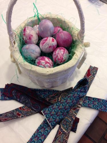 Silk dyed easter eggs 4-2014