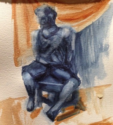 seated figure - long post