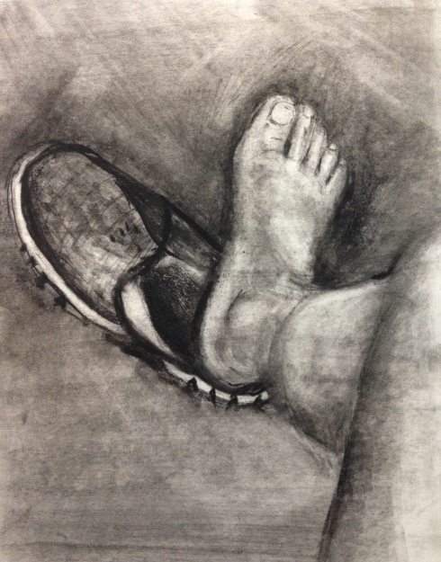 right foot left shoe 7-8-2014 drawing class