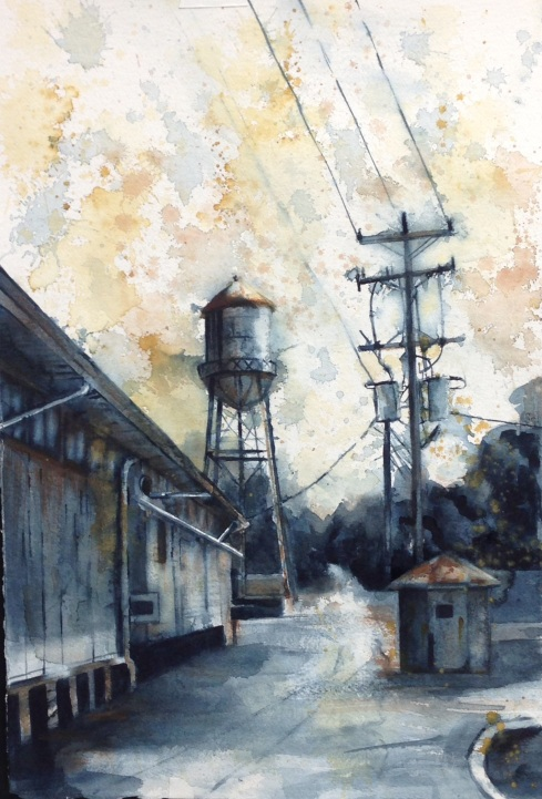 watercolor FLORIDA watertower