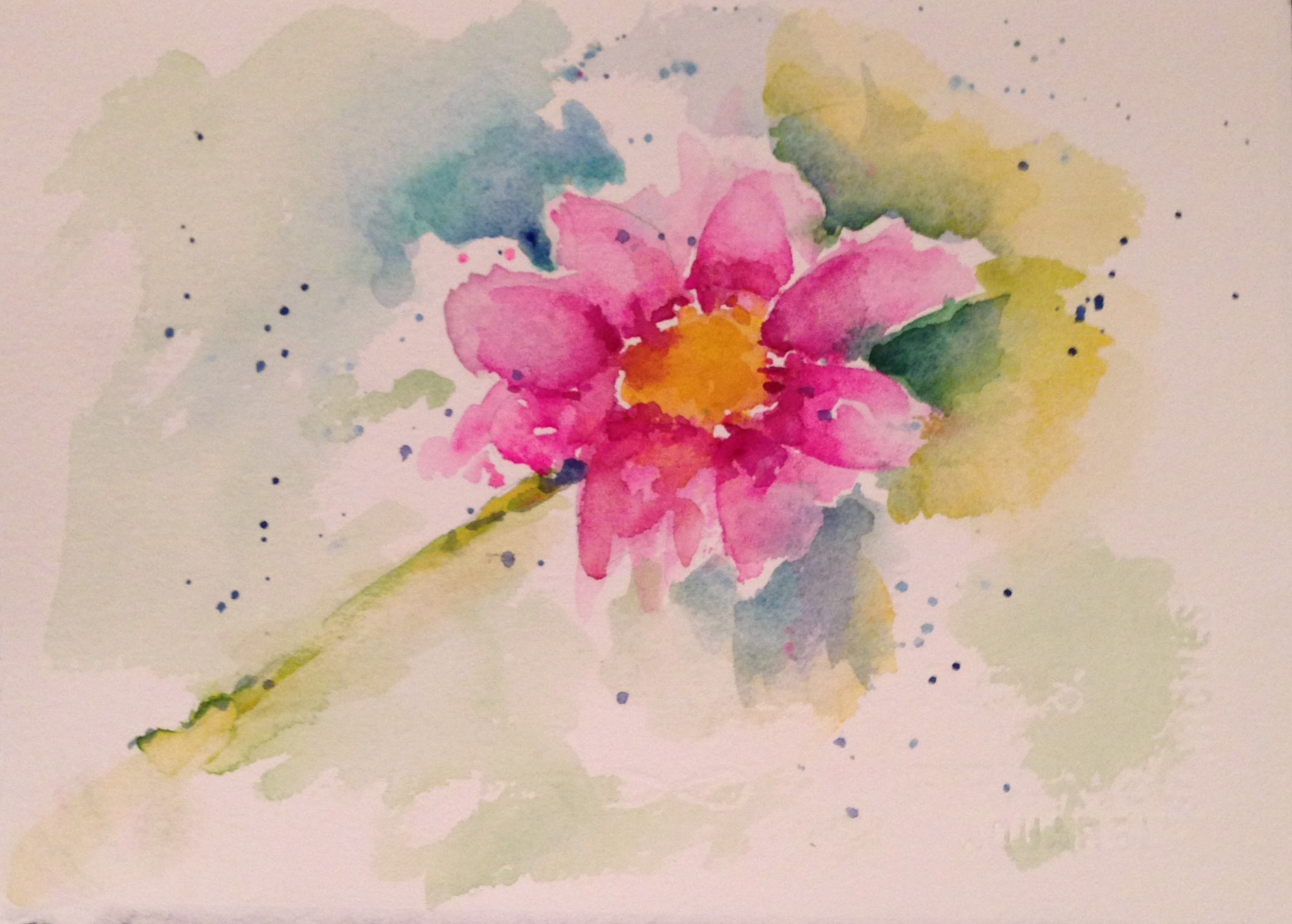 Watercolor greeting cards carol king drawing painting complaining flowers for friends and why i hate flights m4hsunfo
