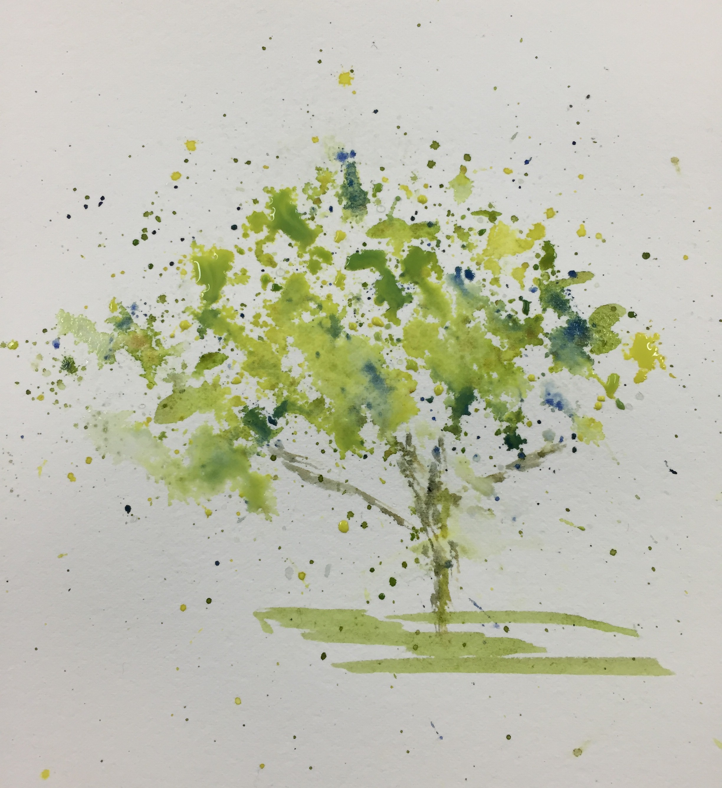watercolor trees | Carol King: drawing, painting, complaining