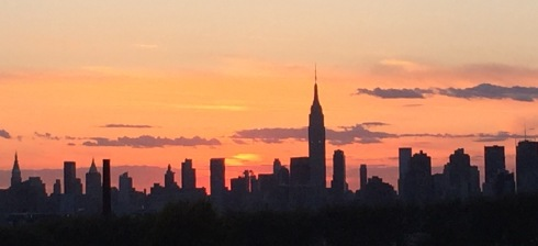 Manhattan sunset skyline 5-2-2015