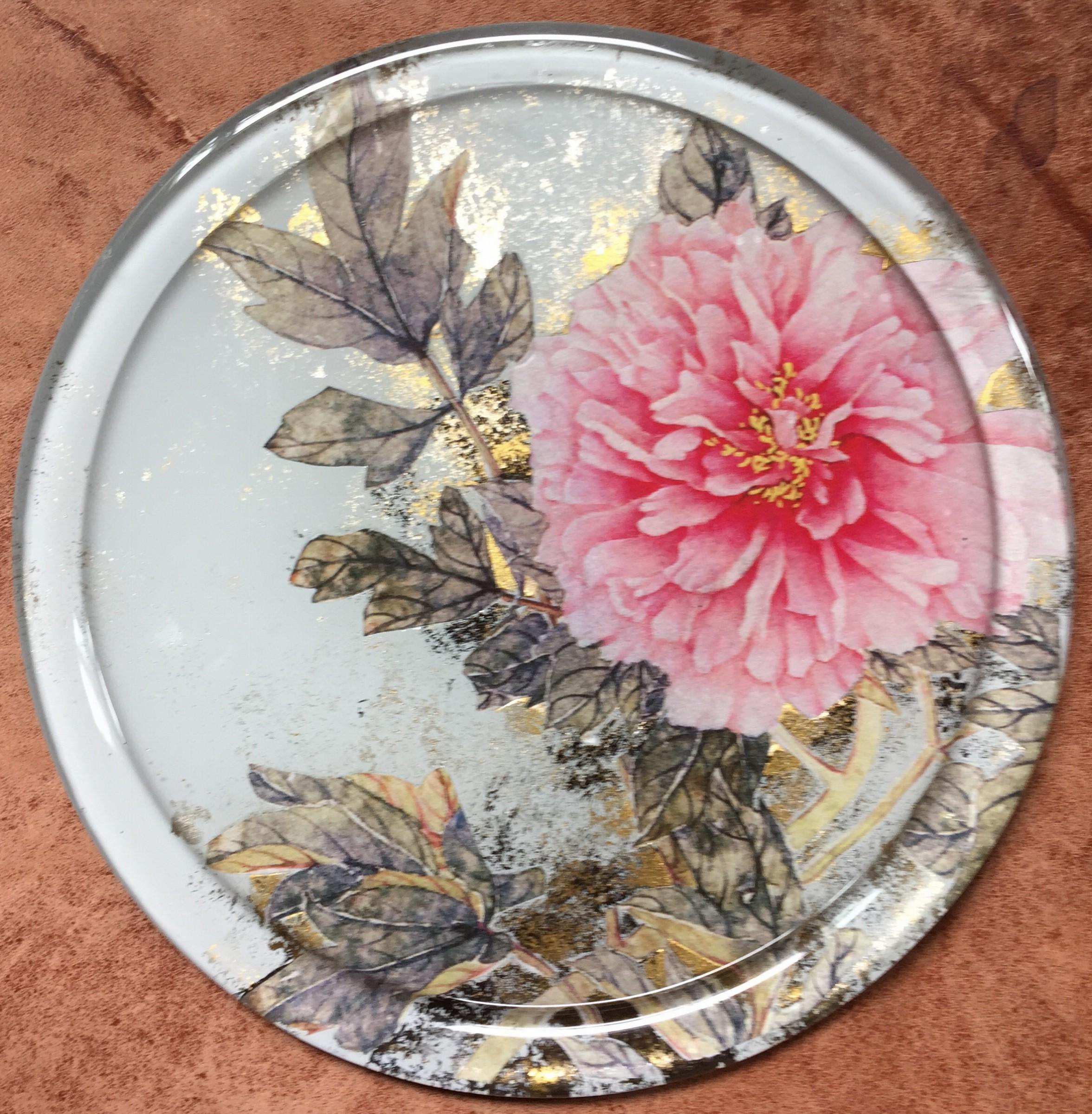 Decopage Glass Plate