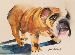 Monica's bulldog