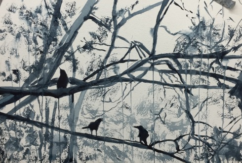 grisaille crows